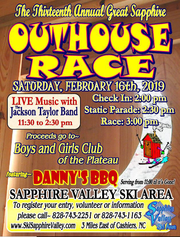 great outhouse races ski sapphire valley