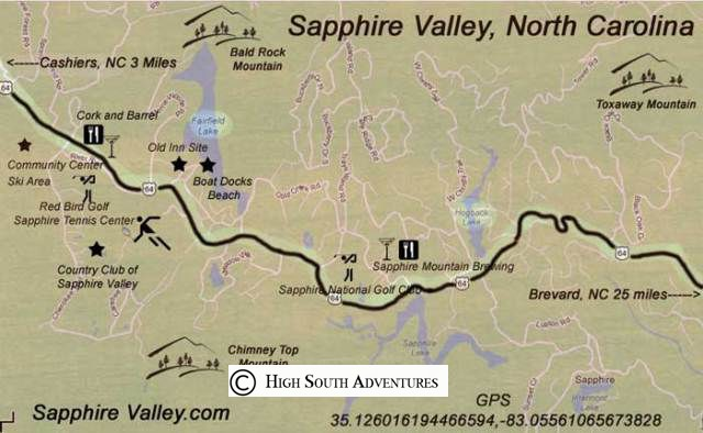 resort area map sapphire valley