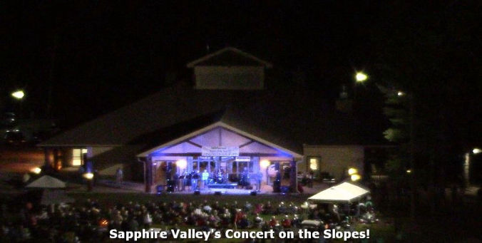 sapphire valley resort concerts on the slopes