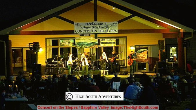 concerts on the slopes, sapphire valley resort